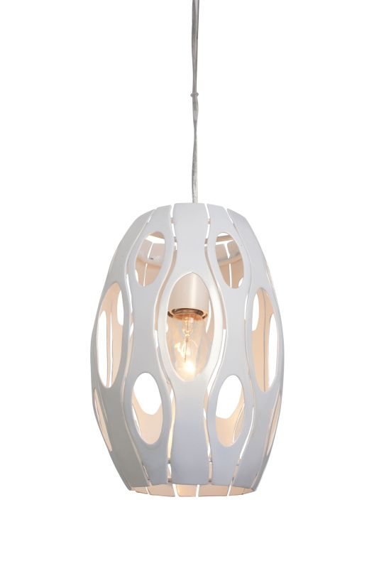 Varaluz 149M01PE 1 Light Mini Pendant with Pearl Finish from the