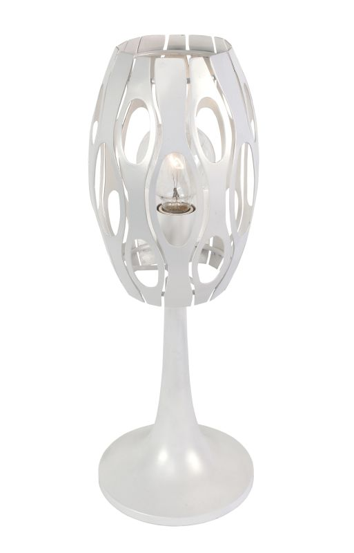 Varaluz 149T01PE Masquerade Pearl One Light Table Lamp Pearl Lamps