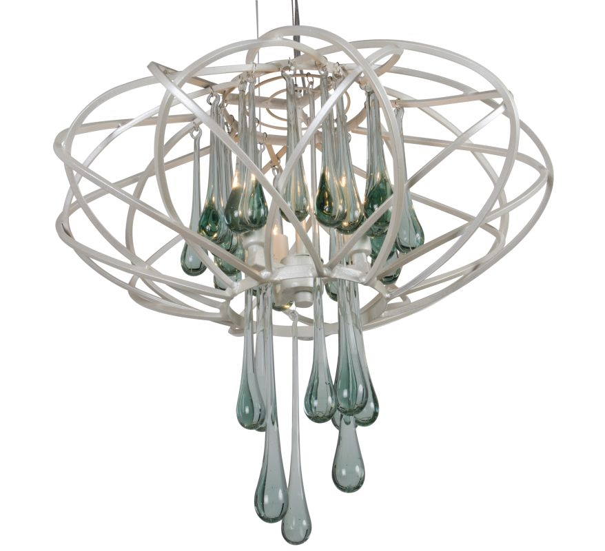Varaluz 151C03 3 Light Pendant from the Area 51 Collection Pearl