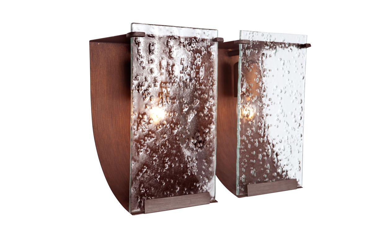 Varaluz 160B02 Rain 2 Light Vanity Hammered Ore With Recycled Hand Sale $269.00 ITEM#: 1334738 MODEL# :160B02HO UPC#: 815253011334 :