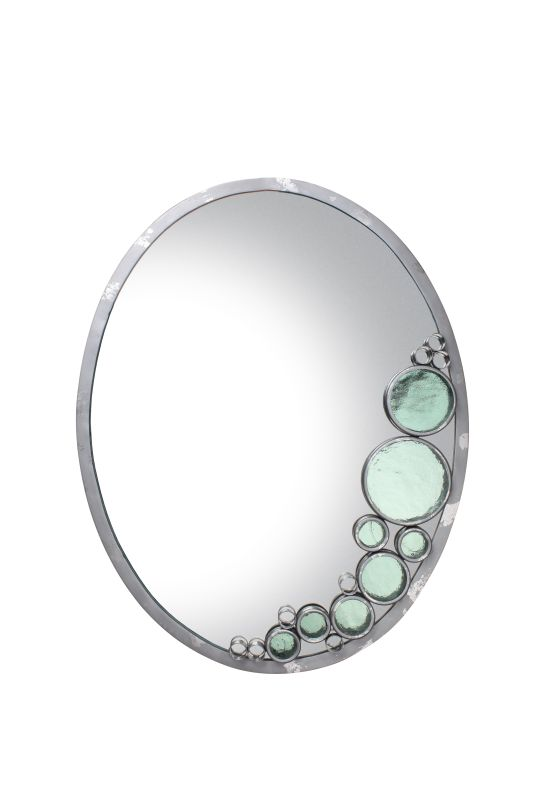 Varaluz 165A02NV Fascination Nevada with Silver Leafing Oval Mirror