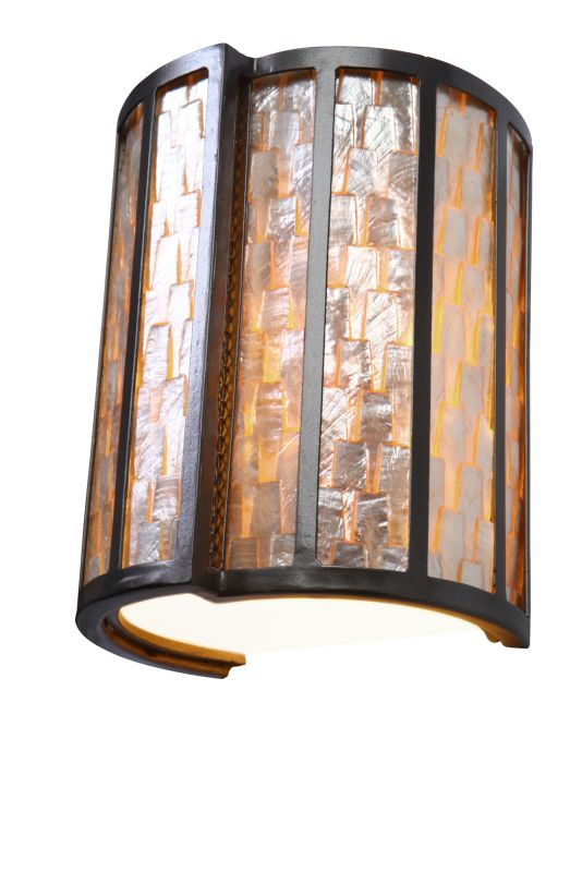 "Varaluz 175W01 1 Light 8"" Wide Sustainable Shell Affinity Sconce from"