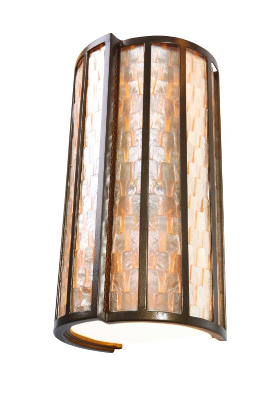 "Varaluz 175W02 2 Light 8"" Wide Sustainable Shell Affinity Sconce from"