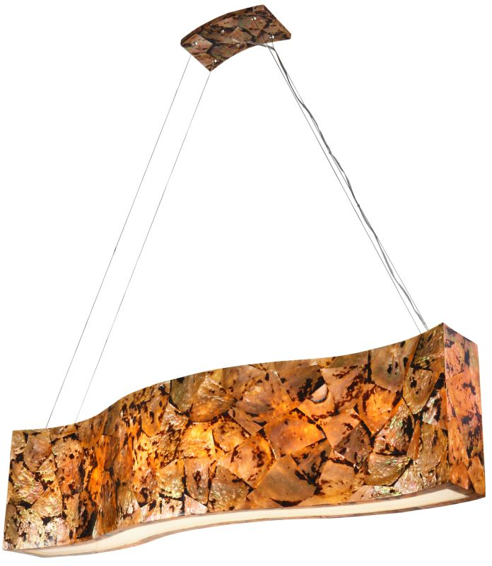 "Varaluz 178N06 6 Light 48"" Wide Sustainable Shell Big Chandelier from"