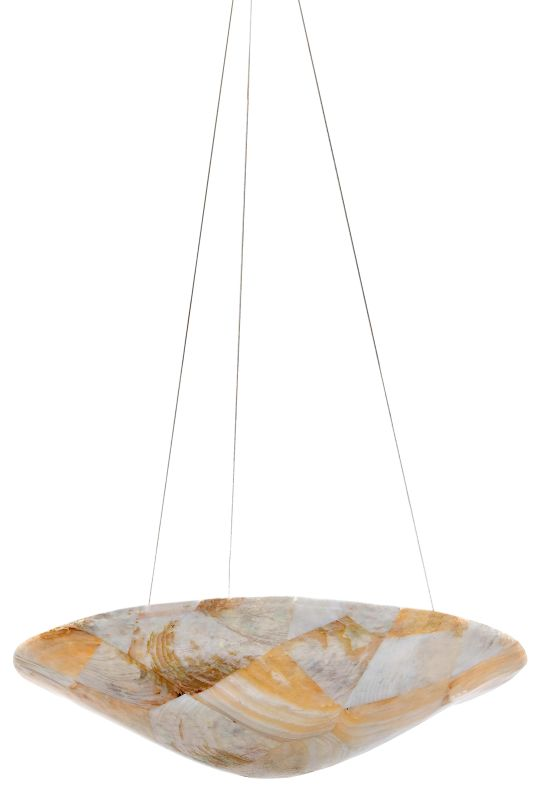 Varaluz 178P03 Three Light Pendant Made From Reclaimed Shells from the