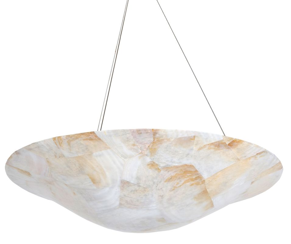Varaluz 178P04 Four Light Pendant Made From Reclaimed Shells from the