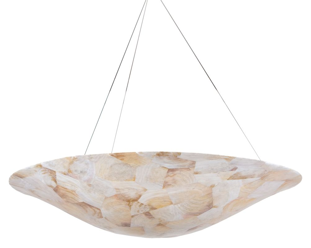 Varaluz 178P05 Five Light Pendant Made From Reclaimed Shells from the
