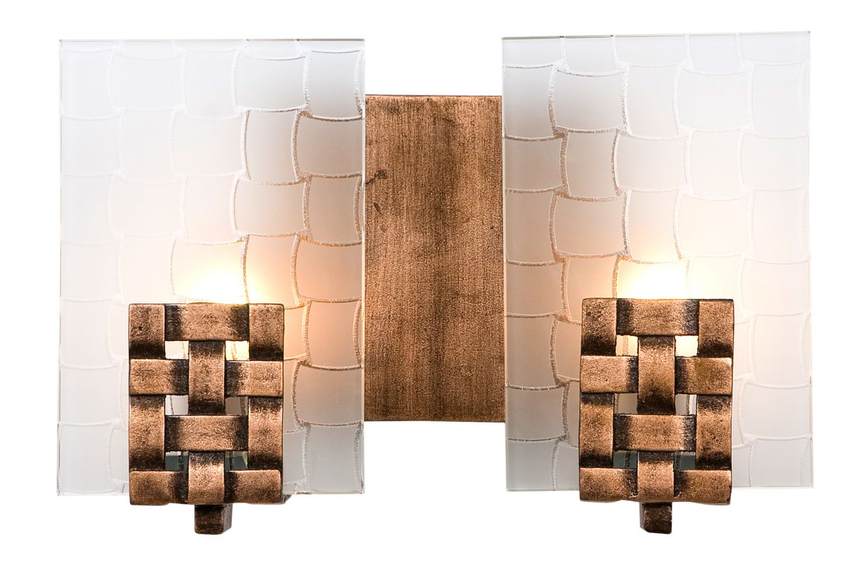 Varaluz 180B02 2 Light Horizontal Bathroom Vanity Fixture from the