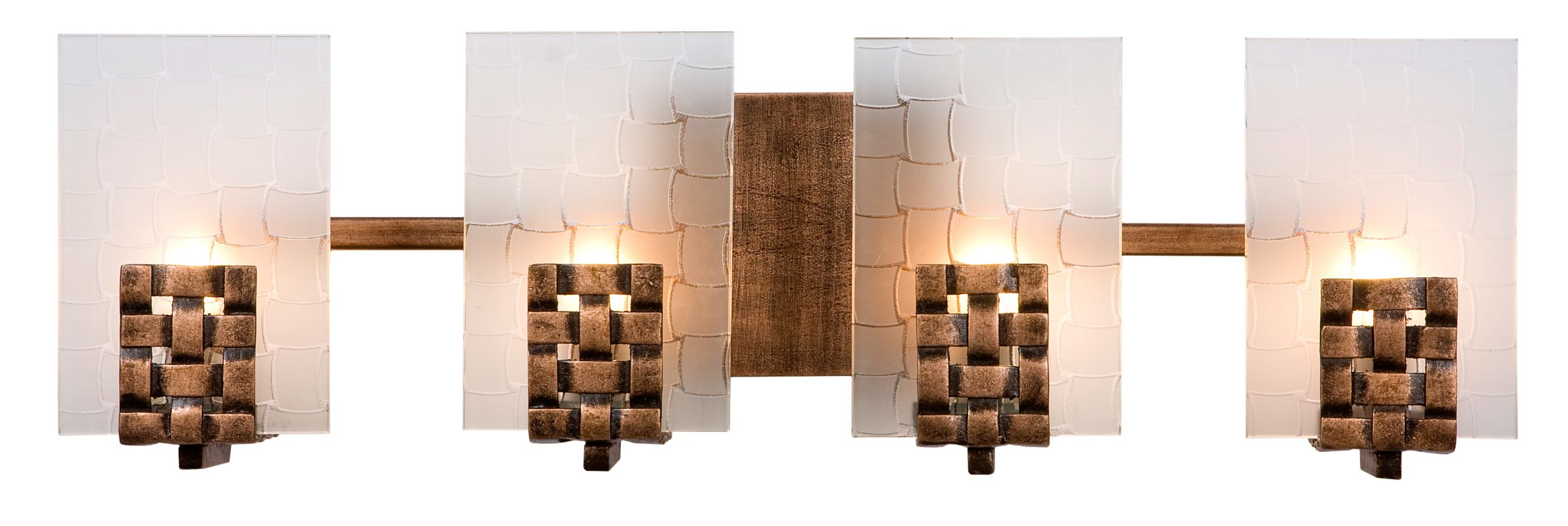 Varaluz 180B04 4 Light Horizontal Bathroom Vanity Fixture from the