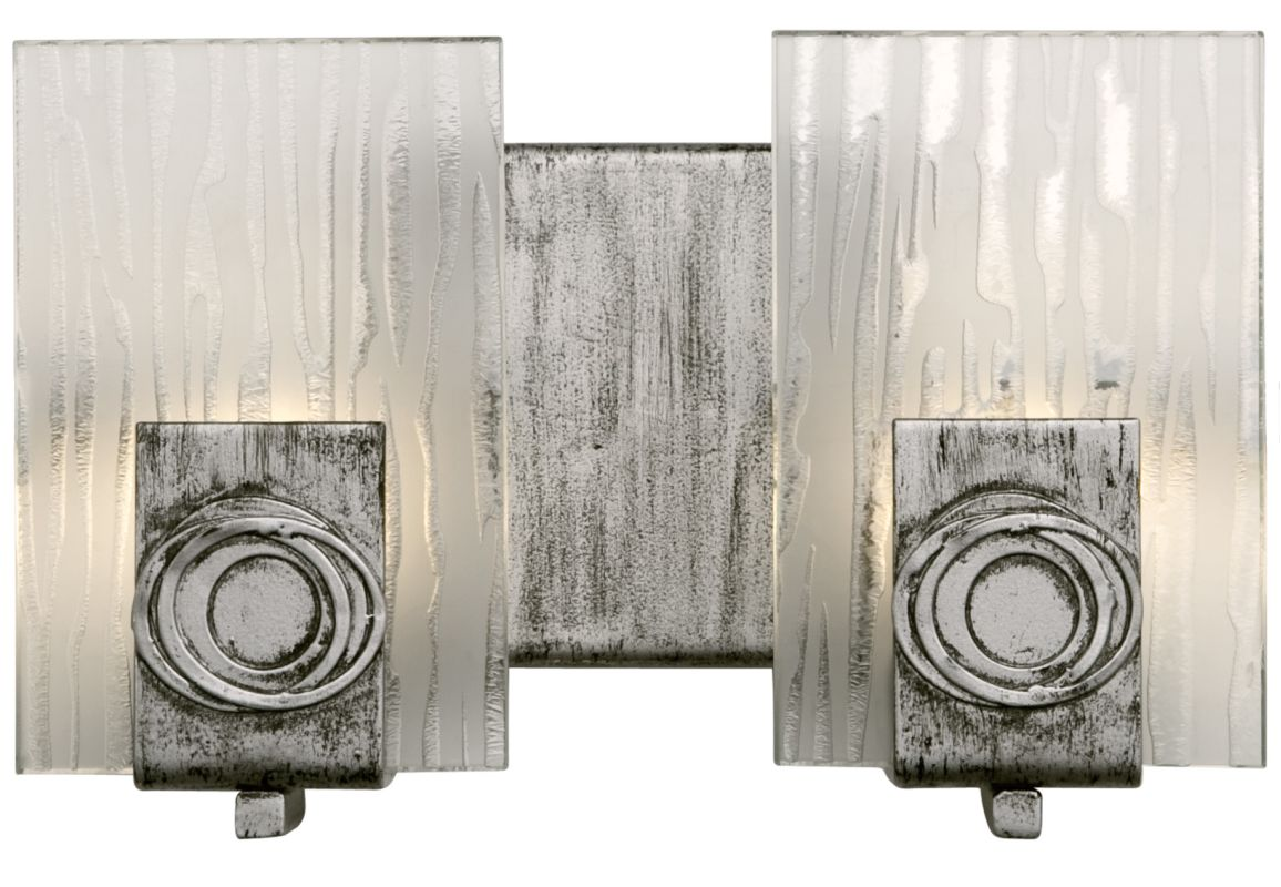 Varaluz 182B02 2 Light Bathroom Fixture Made of Recycled Steel and