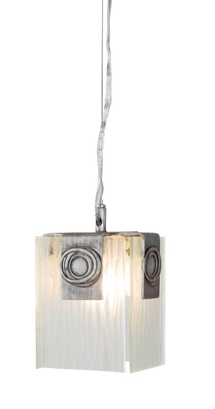 Varaluz 182M01 1 Light Mini Pendant Made Of Recycled Steel And Recyled