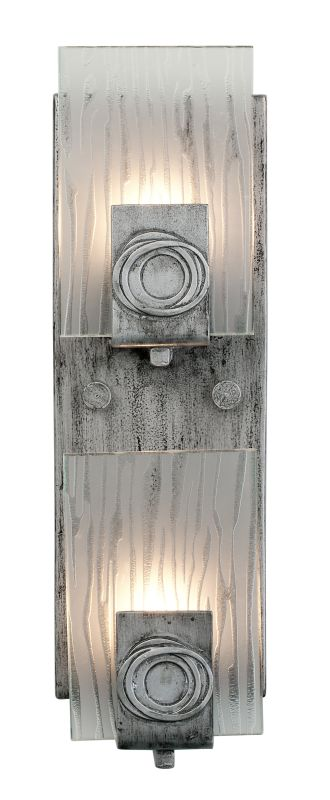 Varaluz 182W02 2 Light Recycled Vertical Wall Sconce from the Polar Sale $209.00 ITEM#: 1334852 MODEL# :182W02 UPC#: 815253012546 :