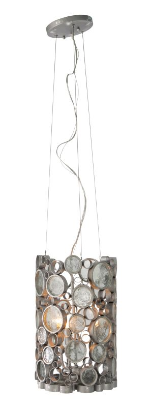 Varaluz 193P03 Fascination 3 Light Hand Forged Recycled Steel Pendant Sale $195.00 ITEM#: 1440078 MODEL# :193P03NV UPC#: 815253012959 :