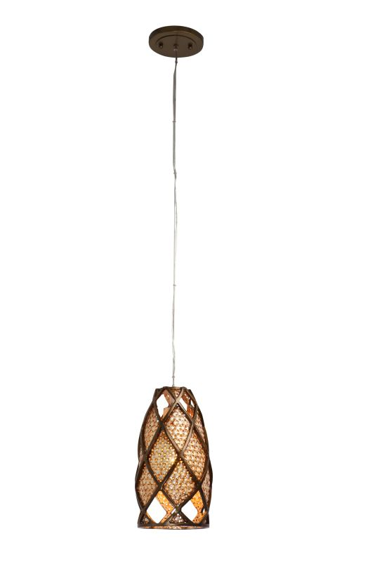 Varaluz 203M01 Recycled Hand-Forged Steel Single Light Mini Pendant