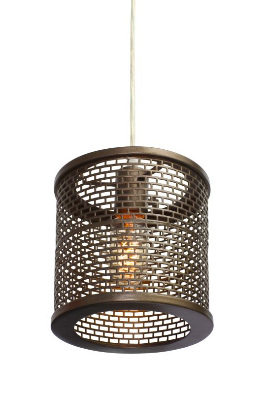 Varaluz 231M01NB Lit-Mesh Test New Bronze One Light Mini Pendant New