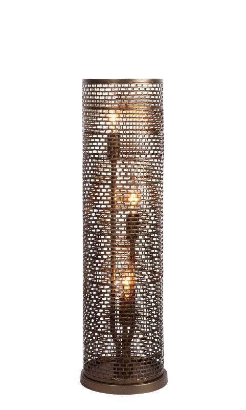 Varaluz 231T03NB Lit-Mesh Test New Bronze Three Light Table Lamp New
