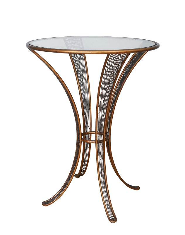 Varaluz 240A07 Flow Pub Table Hammered Ore Furniture Bar Tables