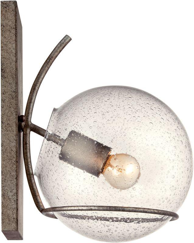 Varaluz 243K01 Watson 1 Light Wall Sconce Silver Age Indoor Lighting