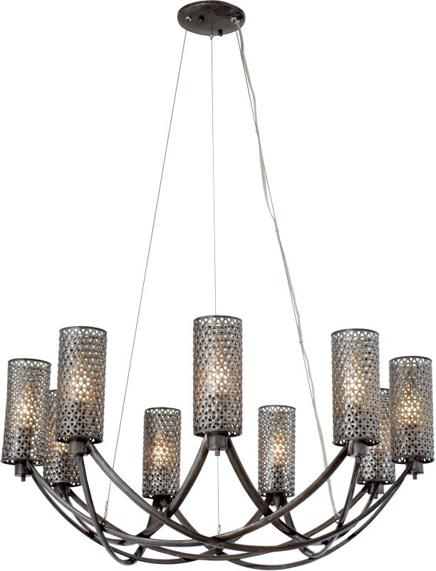 Varaluz 244C09 Casablanca 9 Light Hand Forged Recycled Steel Sale $929.00 ITEM#: 2575708 MODEL# :244C09SL UPC#: 811903021166 :