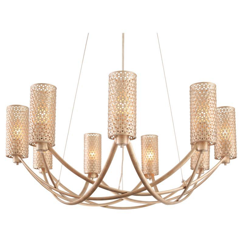 Varaluz 244C09 Casablanca 9 Light Hand Forged Recycled Steel Sale $929.00 ITEM#: 2749989 MODEL# :244C09ZG UPC#: 811903023856 :