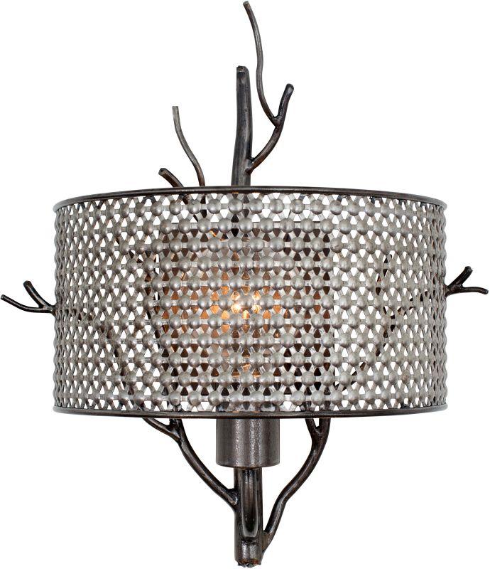 Varaluz 245K01 Treefold 1 Light Wall Sconce Steel Indoor Lighting