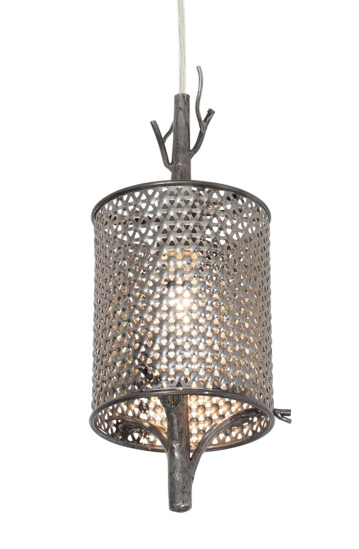 Varaluz 245M01 Treefold 1 Light Hand Forged Recycled Steel Pendant