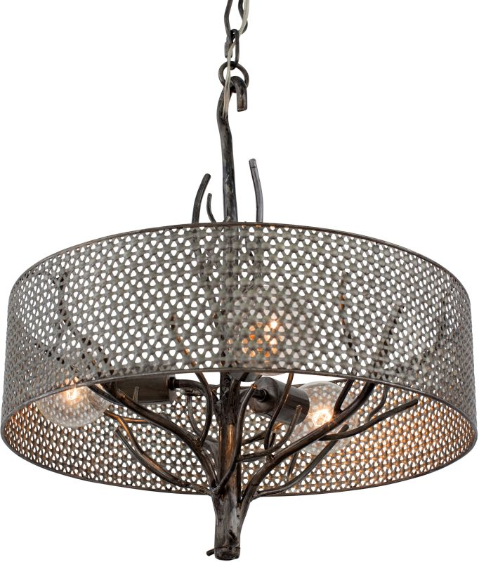 Varaluz 245P03 Treefold 3 Light Pendant Steel Indoor Lighting
