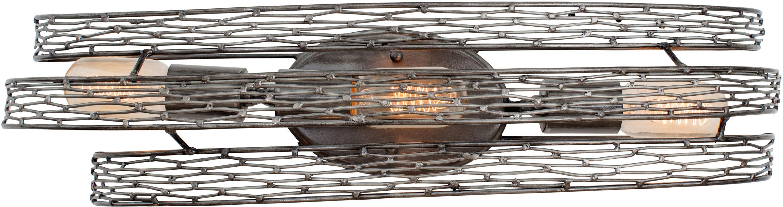 Varaluz 247B03 Flow 3 Light Wall Sconce Steel Indoor Lighting