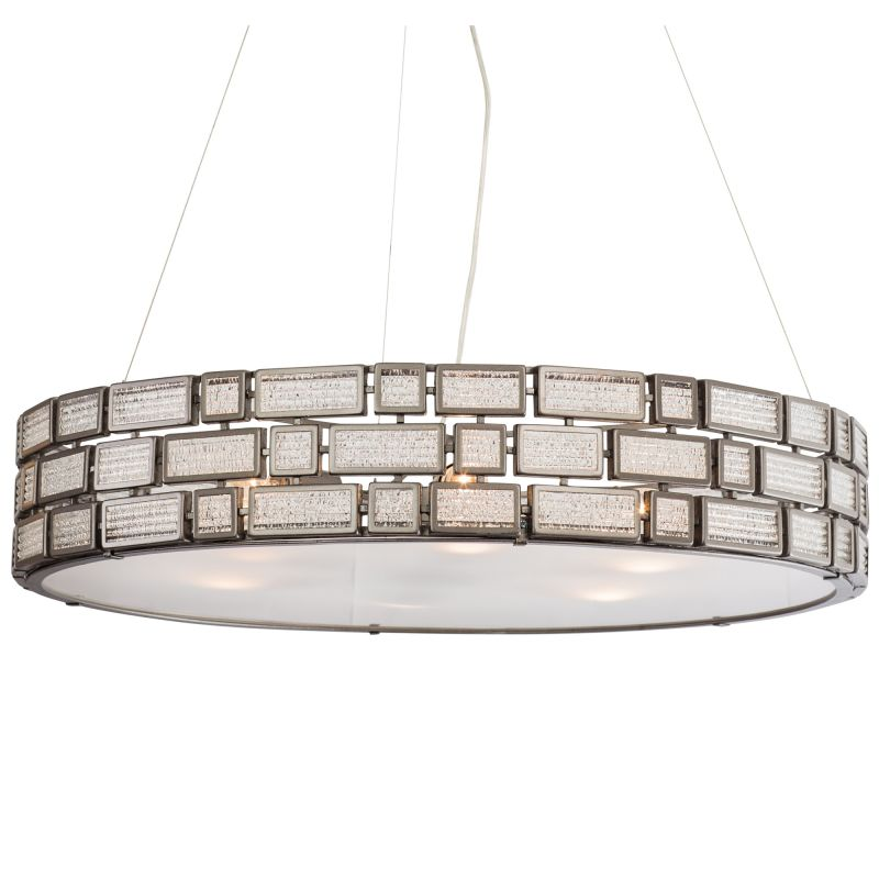 "Varaluz 255P06 Harlowe 6 Light 30"" Width Hand Forged Recycled Steel"