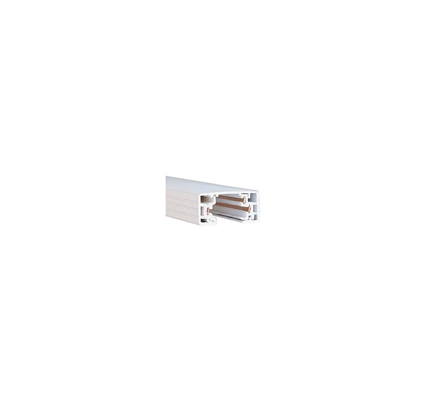 "WAC Lighting HT8 96"" Length Single Circuit H-Track Section White"