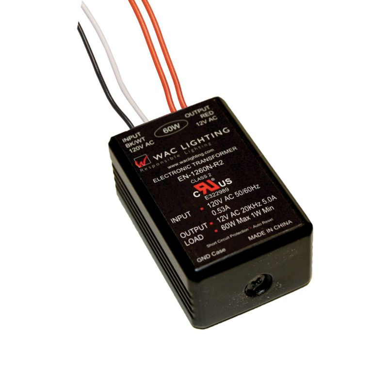 WAC Lighting EN-1275-R-AR 12 Volt Non-Enclosed Electronic Transformer Sale $36.00 ITEM#: 297677 MODEL# :EN-1275-R-AR UPC#: 790576094618 :