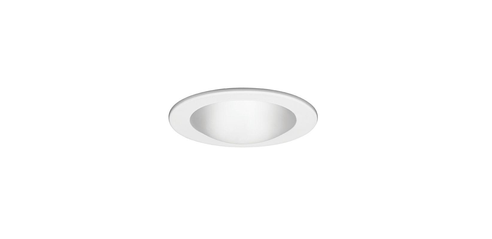 "WAC Lighting R-422 4"" Line Voltage Recessed Light Shower Trim White"