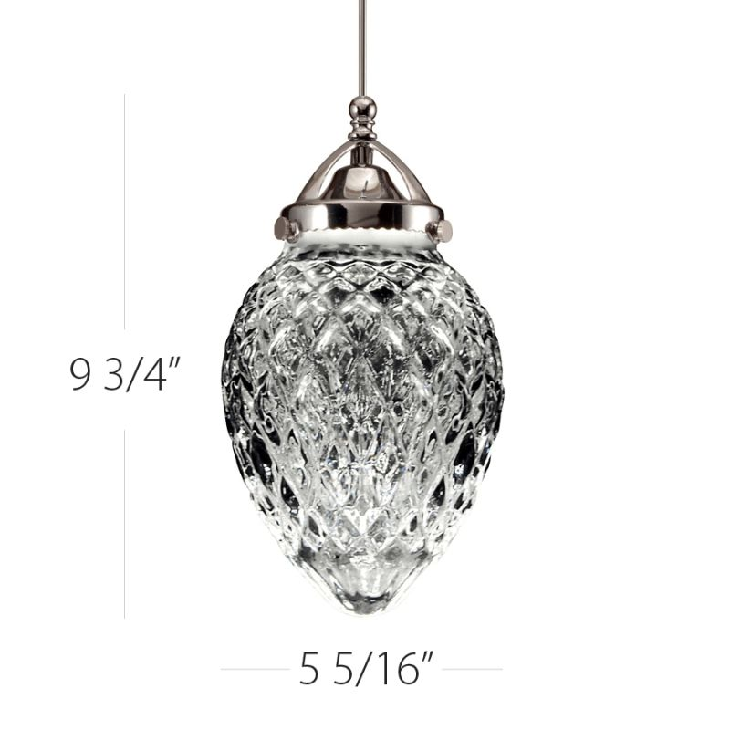 WAC Lighting G491 Cambridge Clear Glass Shade Only Clear Accessory