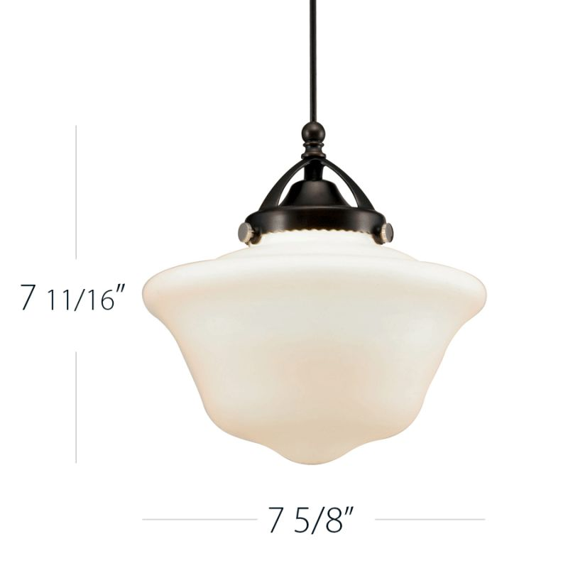 WAC Lighting G492 Milford White Glass Shade Only White Accessory