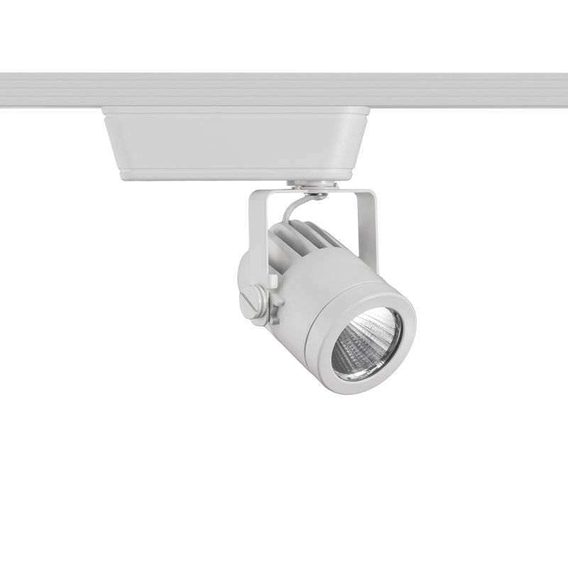 """WAC Lighting H-LED160F-927 Precision 1 Light LED Low Voltage Title 24 Sale $152.50 ITEM#: 2678342 MODEL# :H-LED160F-927-WT UPC#: 790576342269 Features: Material: Di-Cast Aluminum UL Listed for Dry Location Capable of being dimmed - allowing you to set your desired illumination levels when used with dimmable bulbs Warranty: 5 Years components with 2 years finish 365 Degree horizontal rotation and 180 degree vertical aiming ELV Dimming: 100%-10% Lamping Technology: LED - Light Emitting Diode: Highly efficient integrated diodes produce little heat and have an extremely long lifespan. Dimensions: Height: 5.56"""" Width: 5.31"""" (measured from furthest point left to furthest point right on fixture) Depth: 2.25"""" Product Weight: 2 lbs Electrical Specifications: Bulb Type: LED Bulb Included: Yes Wattage: 14.5 Voltage: 120v Wattage: 14.5 Voltage: 120v Average Hours: 70,000 Color Rendering Index (CRI): 90 Color Temperature: 2700K Lumens: 975 System Type: H-Track Voltage Type: Low Voltage Compliance: UL Listed - Indicates whether a product meets standards and compliance guidelines set by Underwriters Laboratories. This listing determines what types of rooms or environments a product can be used in safely. ETL Listed - Indicates whether a product meets standards and compliance guidelines set by Nationally Recognized Testing Laboratory(NRTL). This listing determines what types of rooms or environments a product can be used in safely. California Title 24: A regulation designed to encourage the use of lower energy lamping configurations in order to reduce the energy used for residential and commercial lighting within the state. :"""