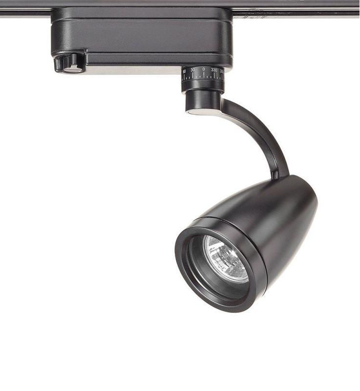 WAC Lighting HHT-316L H Series Low Voltage Track Head 75W Black Indoor