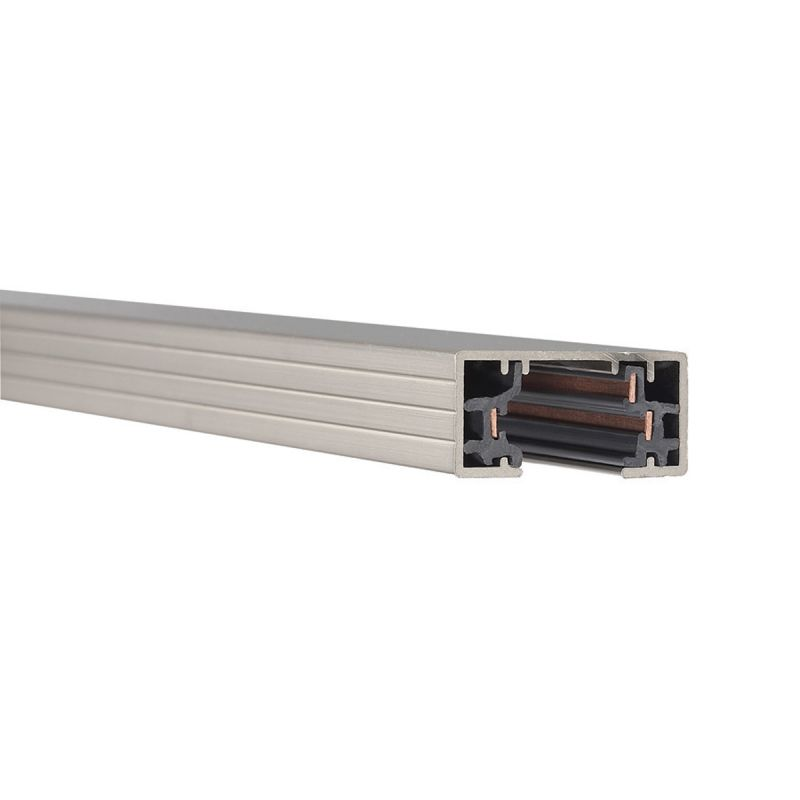 "WAC Lighting HT4 48"" Length Single Circuit H-Track Section Brushed"