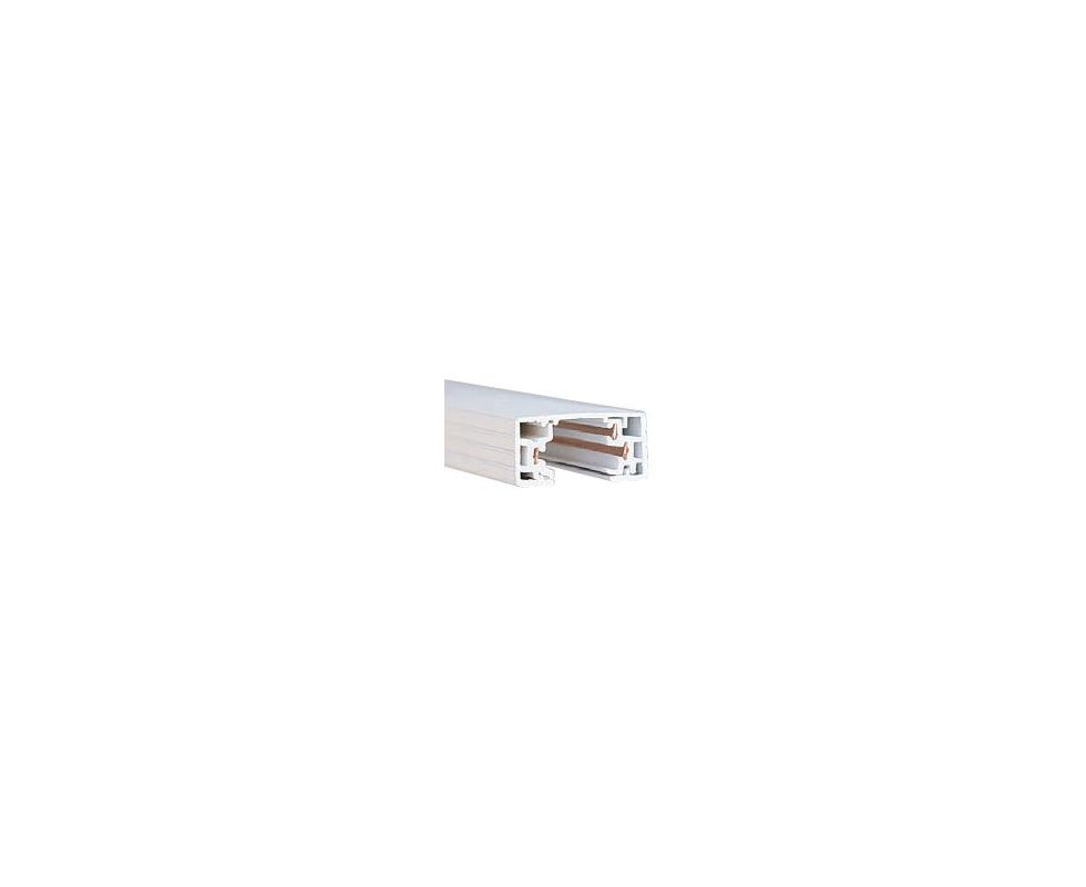 "WAC Lighting HT4 48"" Length Single Circuit H-Track Section White"
