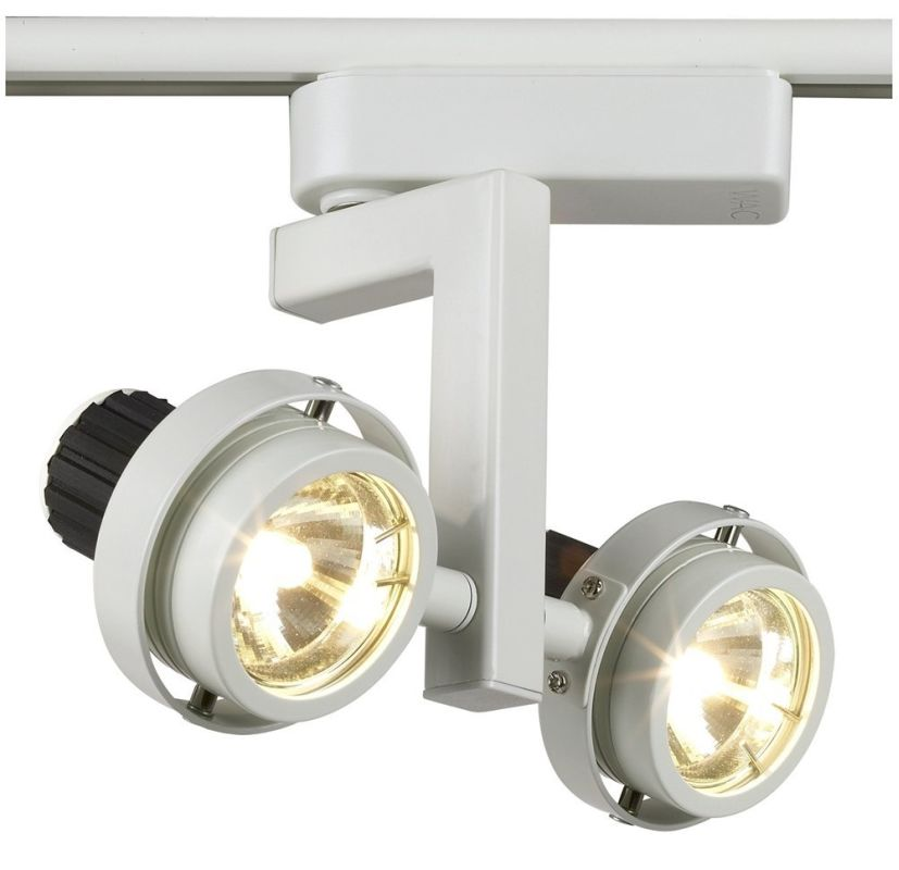 wac lighting qfled101wfwt white quick connect track heads