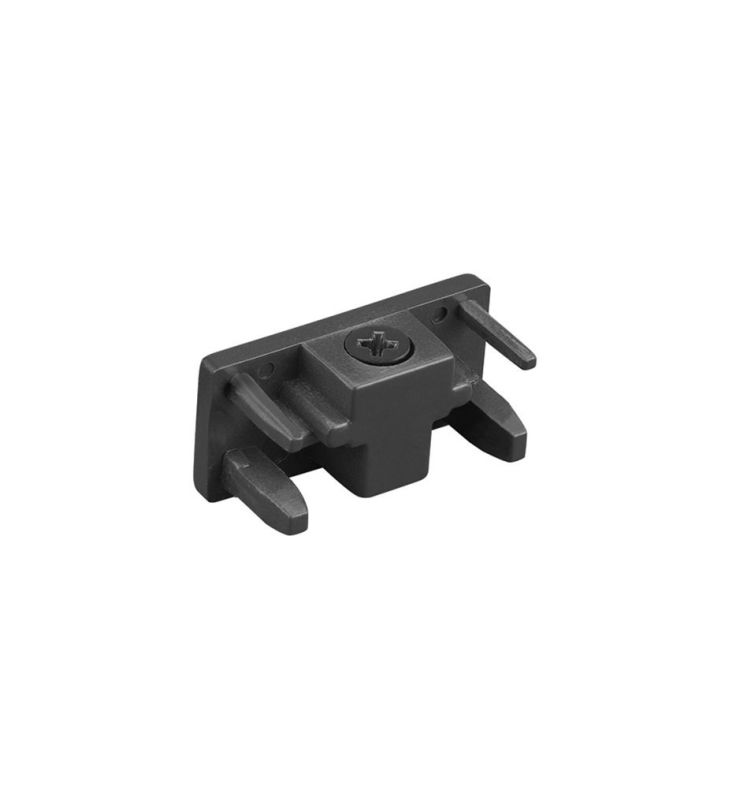 "WAC Lighting L-ENDCAP 1.5"" Length End Cap for L-Track Systems Black"
