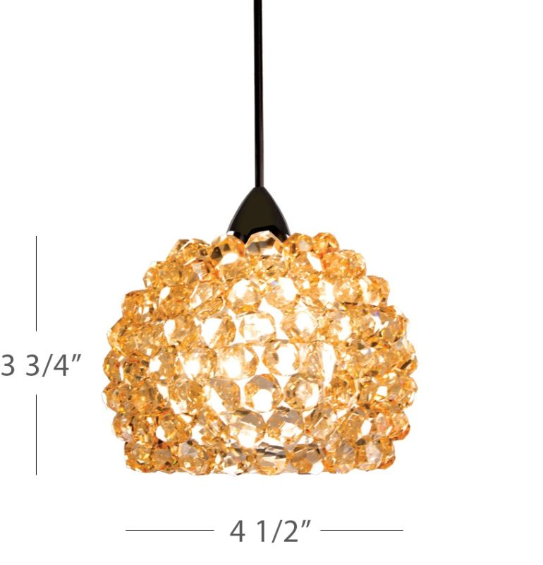 WAC Lighting MP-542 Gia 1 Light Low Voltage Monopoint Mini Pendant - Sale $327.00 ITEM#: 2441035 MODEL# :MP-542-CD/BN UPC#: 790576303178 :