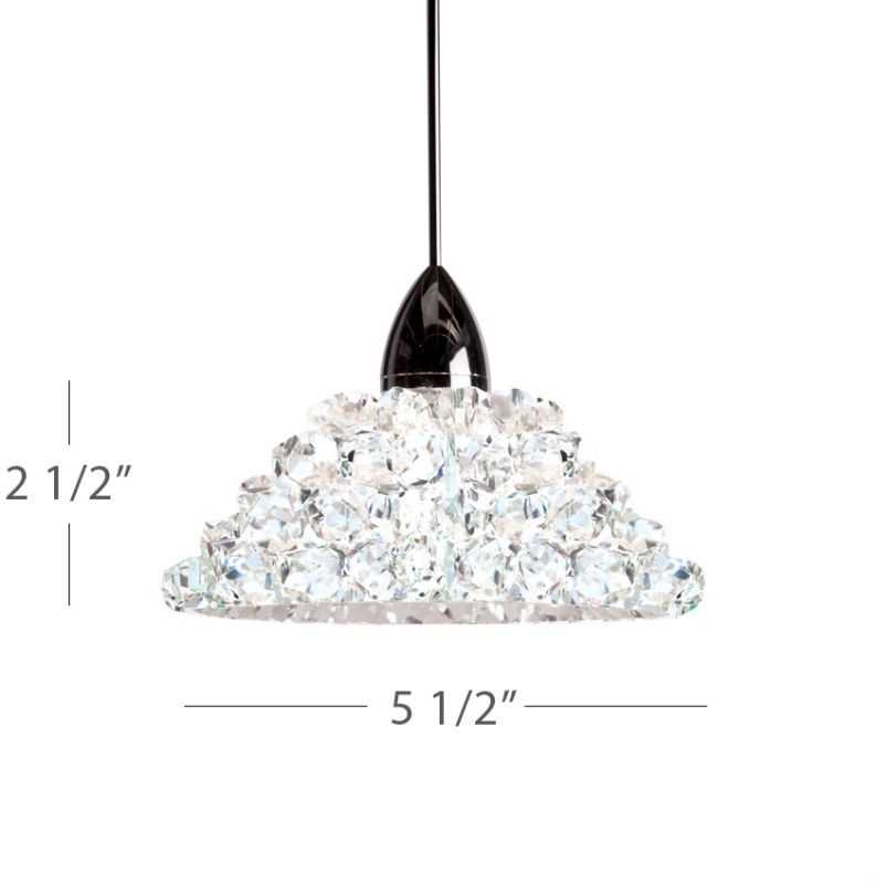 WAC Lighting MP-543 Giselle 1 Light Low Voltage Monopoint Mini Pendant Sale $259.50 ITEM#: 2441048 MODEL# :MP-543-WD/CH UPC#: 790576303406 :