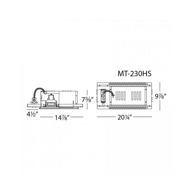 WAC Lighting MT-230HS Multiple Spot Recessed Light Housing for New