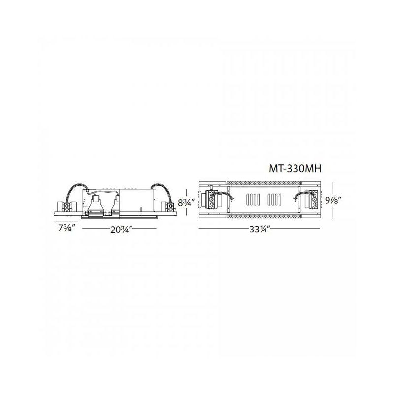 WAC Lighting MT-330MH-70 Multiple Spot Recessed Light Housing for New