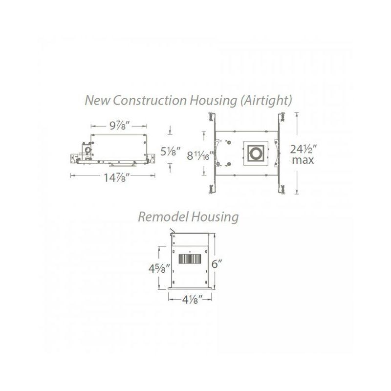 WAC Lighting MT-3LD111R-F930 Remodel 1 Light Mini LED Recessed