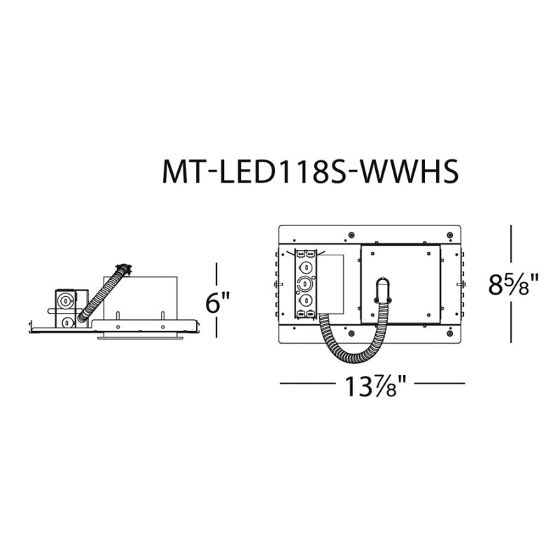 "WAC Lighting MT-LED118S-27HSNIC 4"" Trim 2700K High Output LED Recessed"
