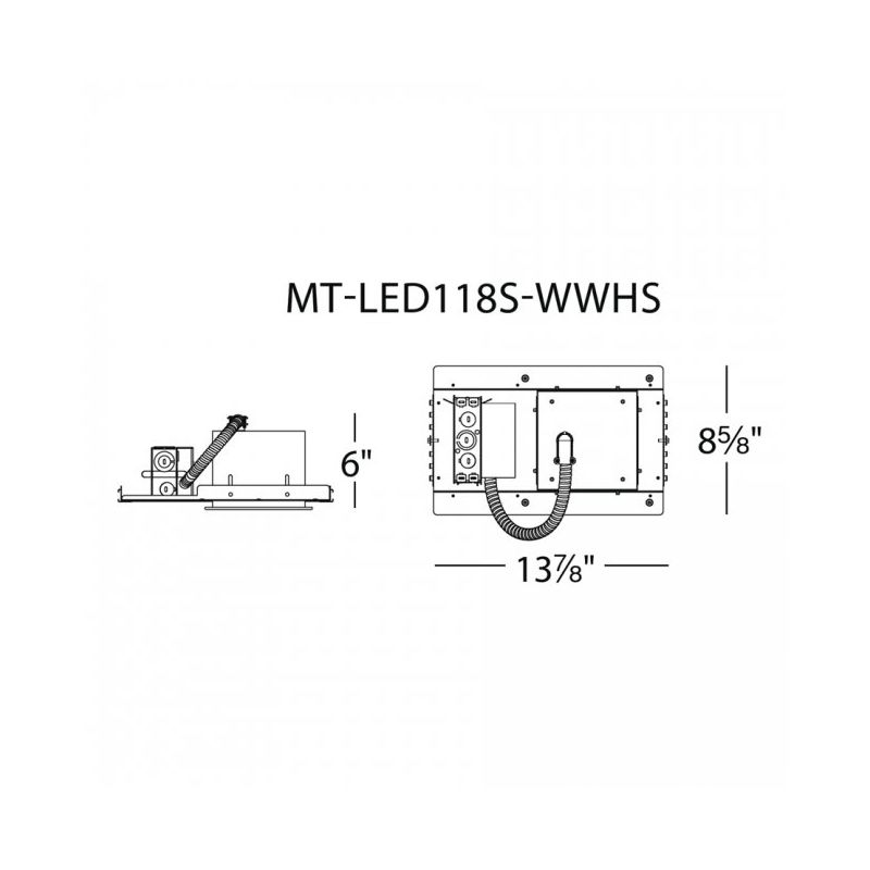 "WAC Lighting MT-LED118S-WWHS 4"" Trim 3000K High Output LED Recessed"