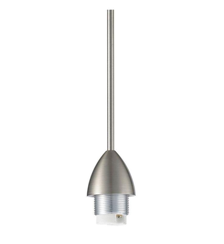 WAC Lighting QP-501 Track Lighting Socket Set Brushed Nickel Indoor