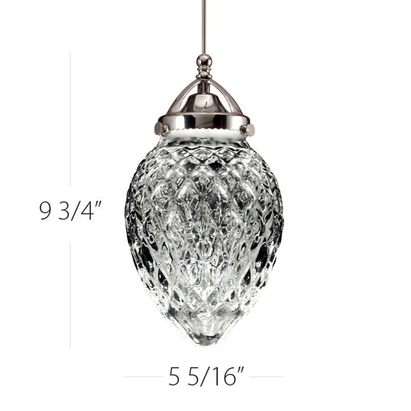 WAC Lighting QP-LED491 Cambridge LEDme Quick-Connect Pendant Canopy Sale $187.50 ITEM#: 2270639 MODEL# :QP-LED491-CL/BN UPC#: 790576224619 :