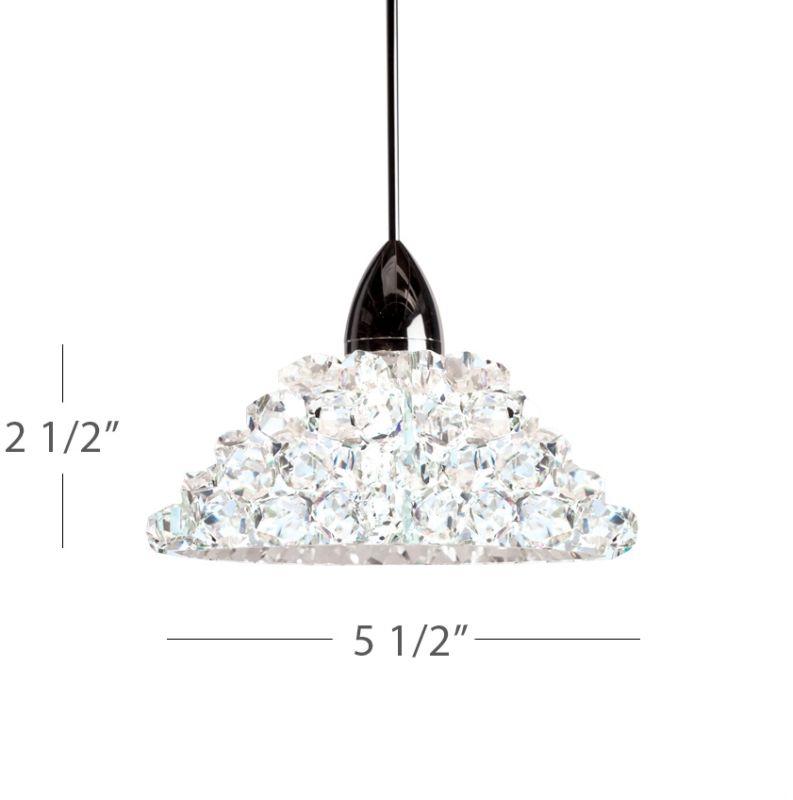 WAC Lighting QP-LED543 Giselle 1 Light 3000K High Output LED Quick Sale $257.50 ITEM#: 2441252 MODEL# :QP-LED543-WD/CH UPC#: 790576303437 :